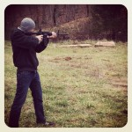No big deal... Just got to shoot guns today...! Shot a AR-15, a .40 cal, and a shotgun! @ Roach, MO