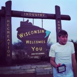 Finally in Wisconsin and the weather is excited to have a Cali guy to nip at! @ Welcome To Wisconsin Rest Stop