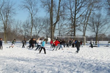 Snow Soccer!