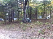 our village of tarp shelters