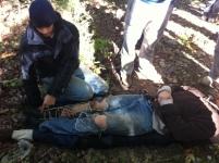 Practicing bush medical care