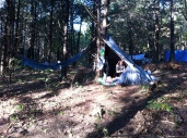 our tarp shelter