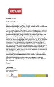 Cornerstone Reccomendation Letter